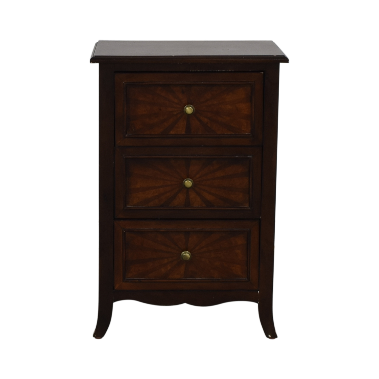 Three-Drawer End Table second hand