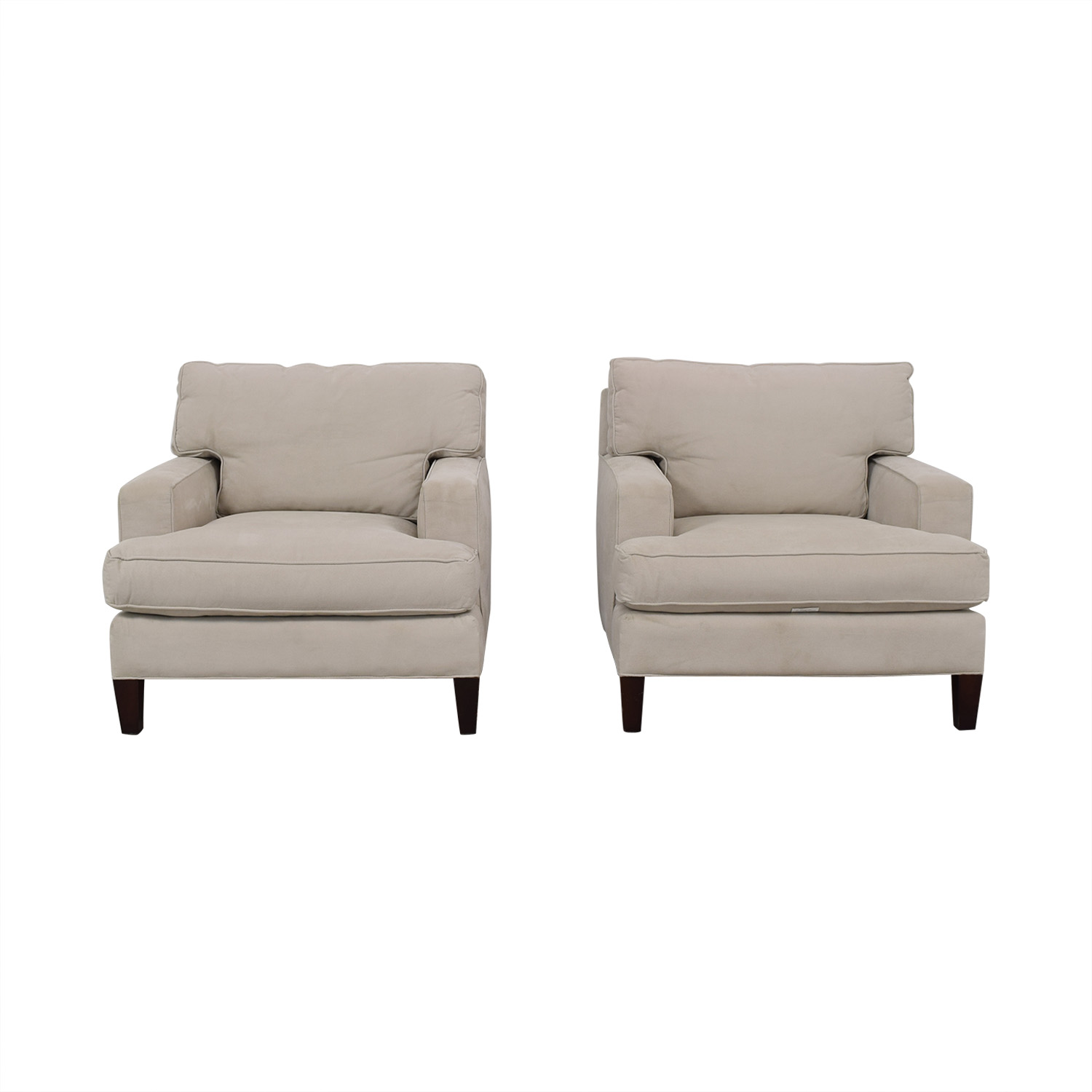 buy Room & Board Room & Board Hawthorne White Accent Chairs online