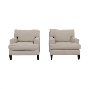 Room & Board Room & Board Hawthorne White Accent Chairs on sale