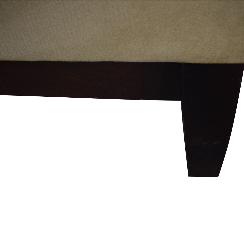 Room & Board Beige Microfiber Armless Loveseat Room & Board