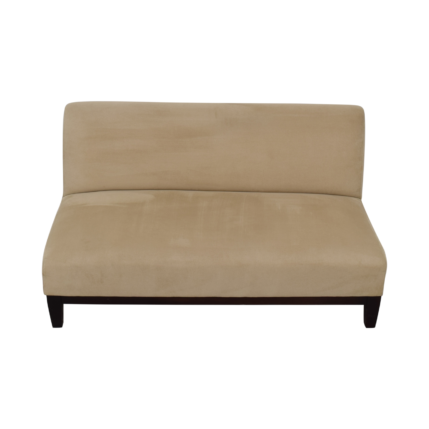 shop Room & Board Beige Microfiber Armless Loveseat Room & Board Accent Chairs
