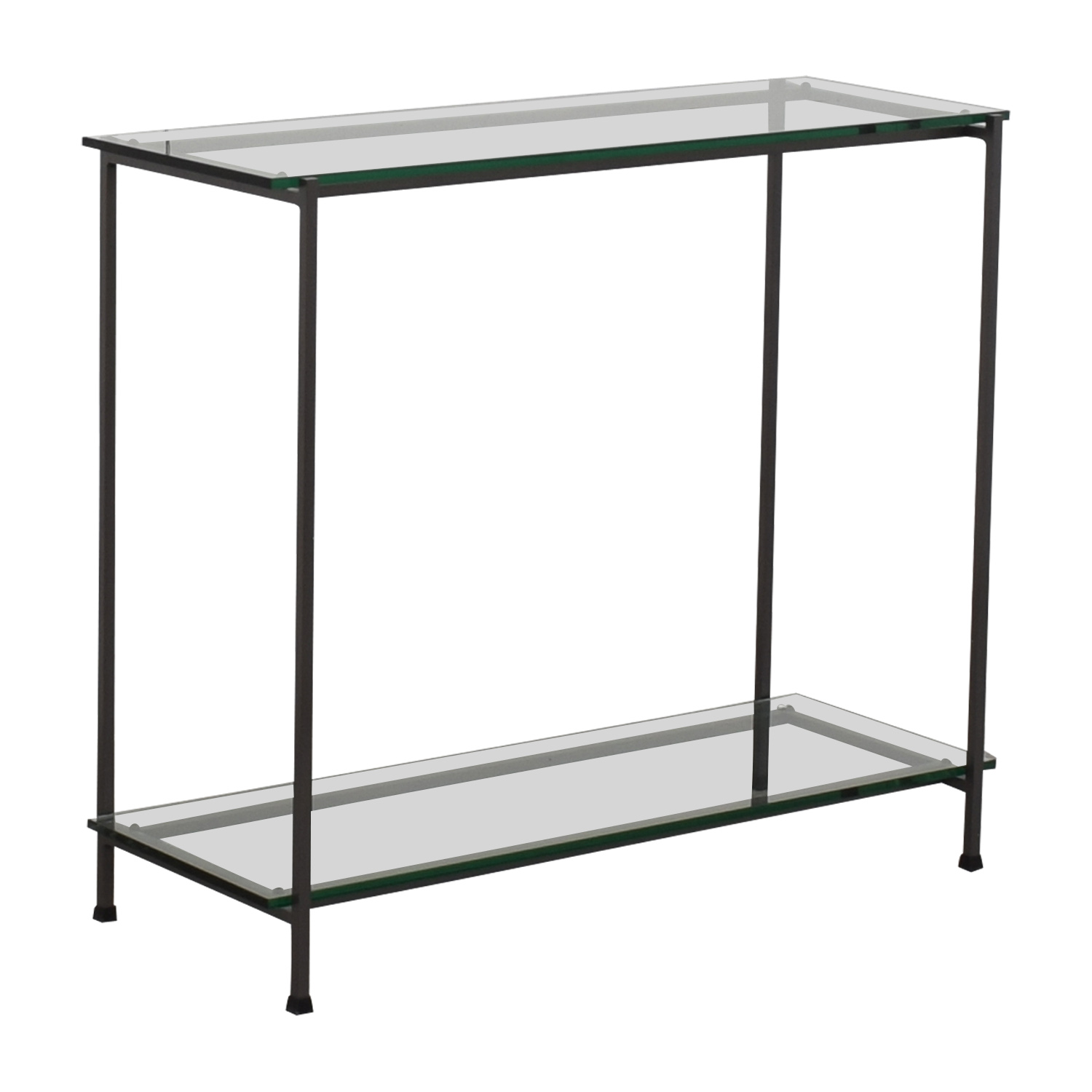Crate & Barrel Crate & Barrel Glass Console used