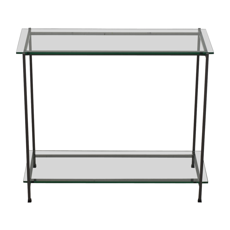 Crate & Barrel Glass Console sale