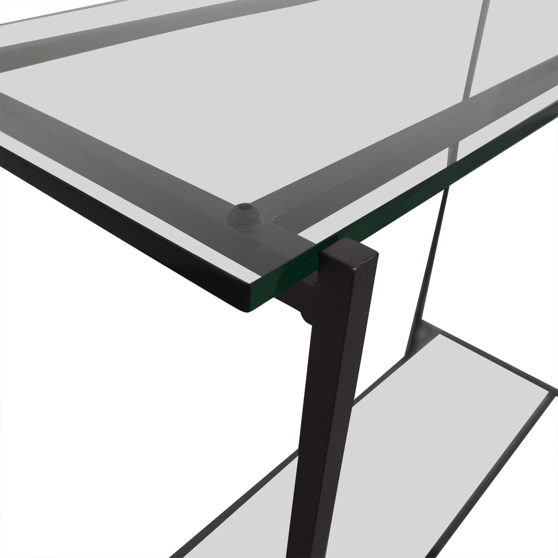 buy Crate & Barrel Glass Console Crate & Barrel Tables