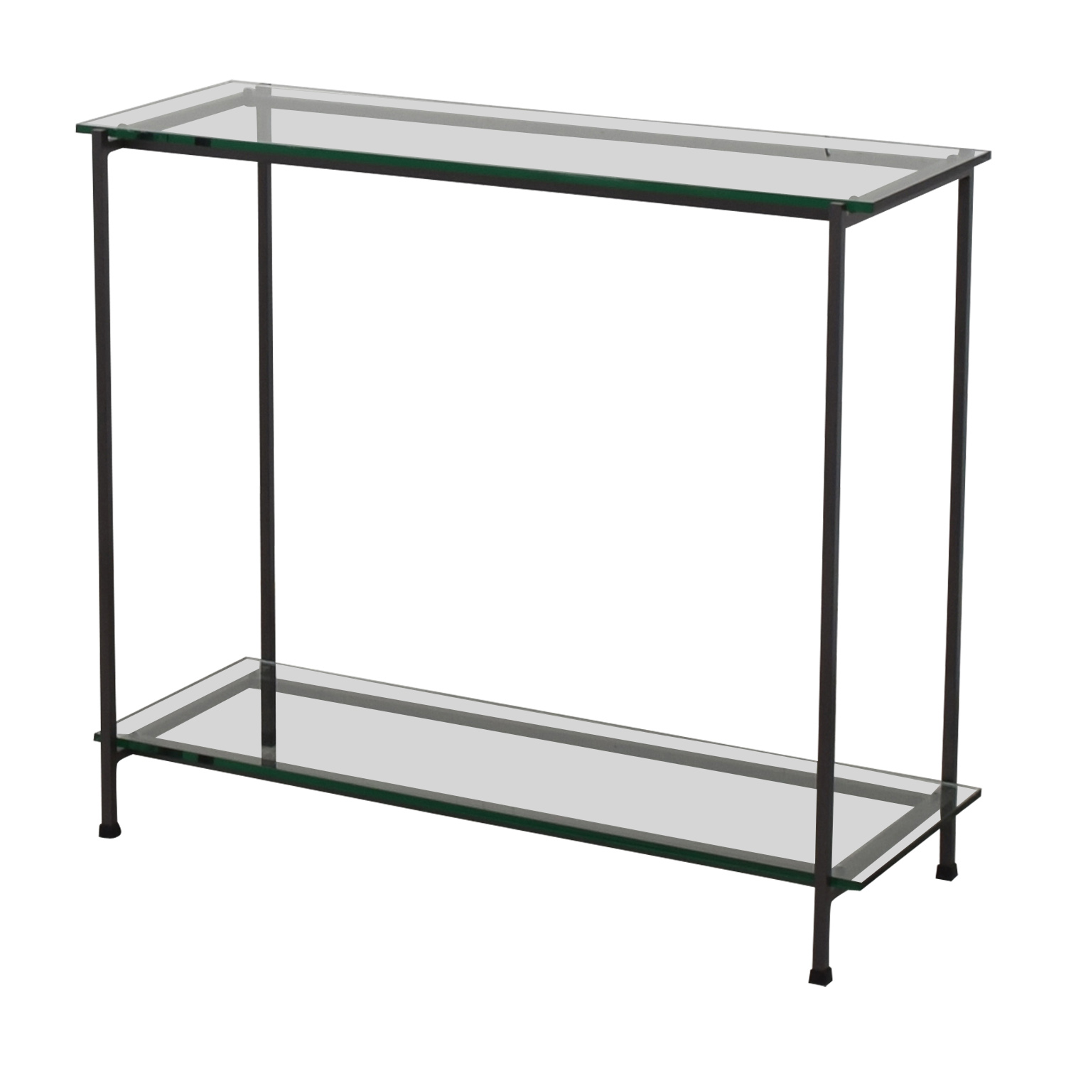 Crate & Barrel Glass Console / Accent Tables