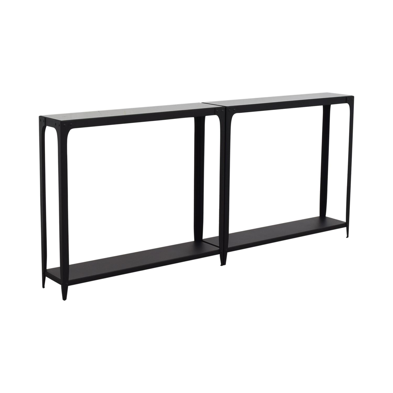 Crate & Barrel Crate & Barrel Console Tables black/glass