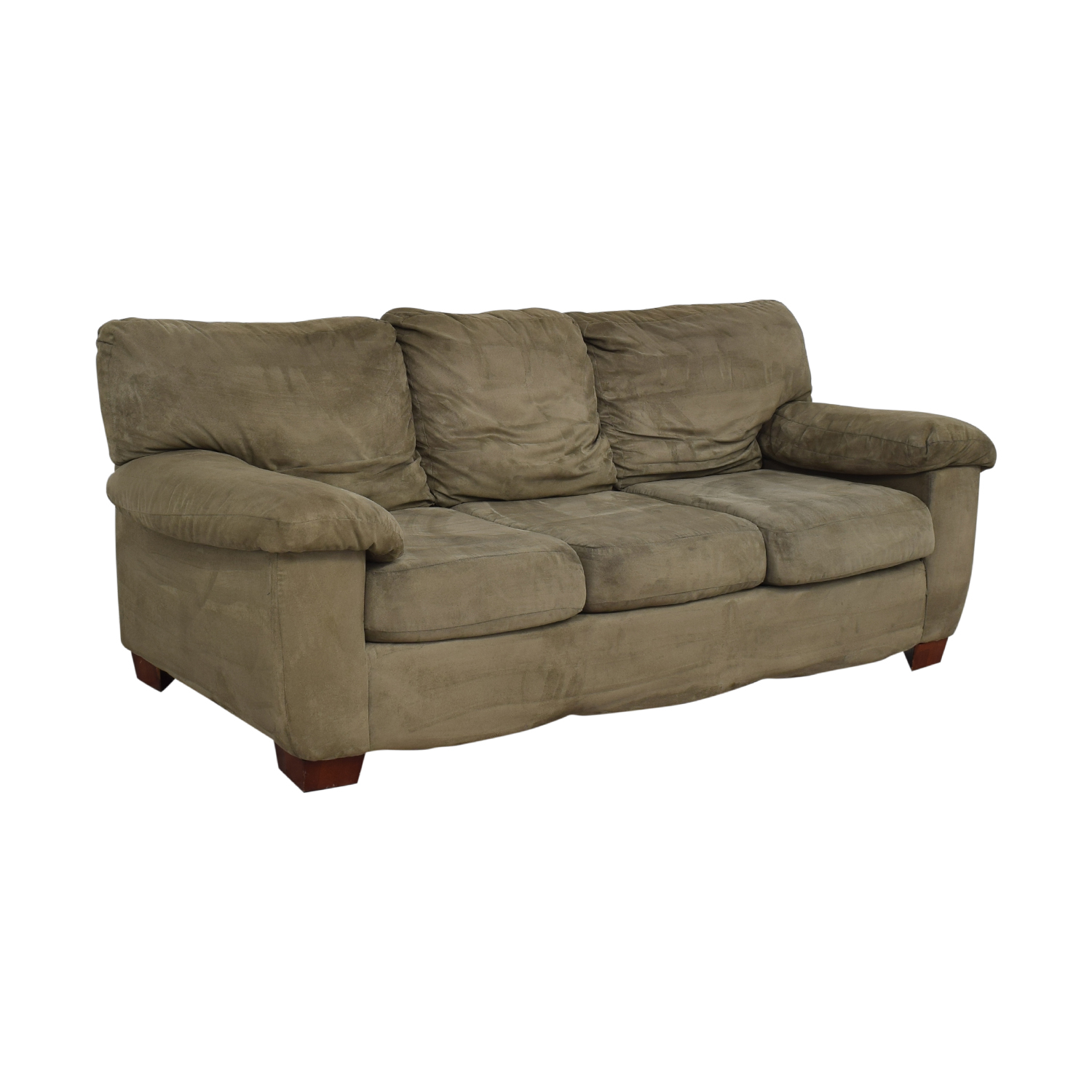 Grey Three Cushion Sofa nj
