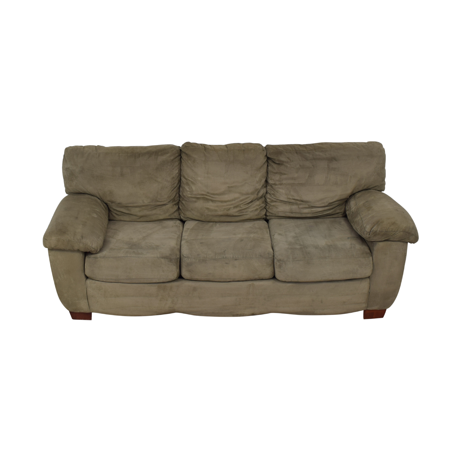 shop Grey Three Cushion Sofa  Sofas