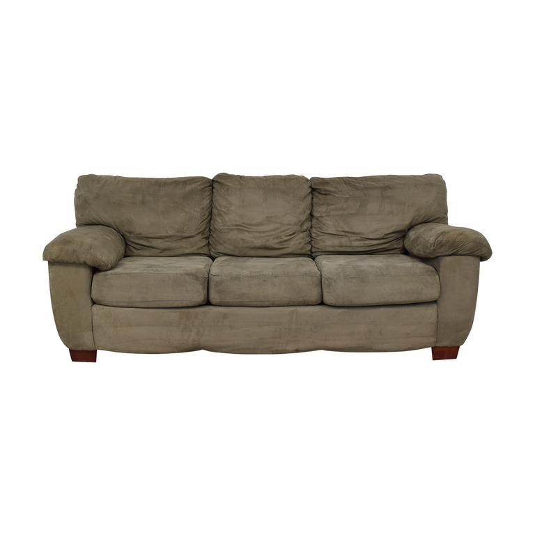 Grey Three Cushion Sofa dimensions