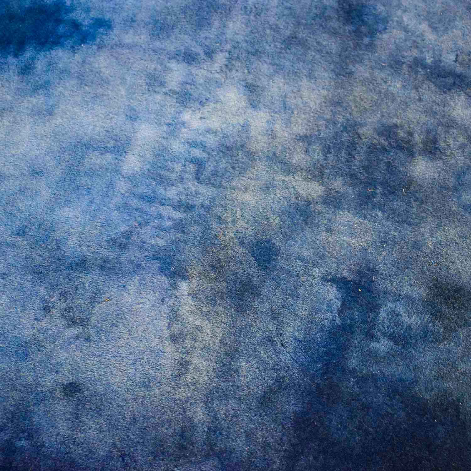 Chinese Blue Silk Carpet for sale