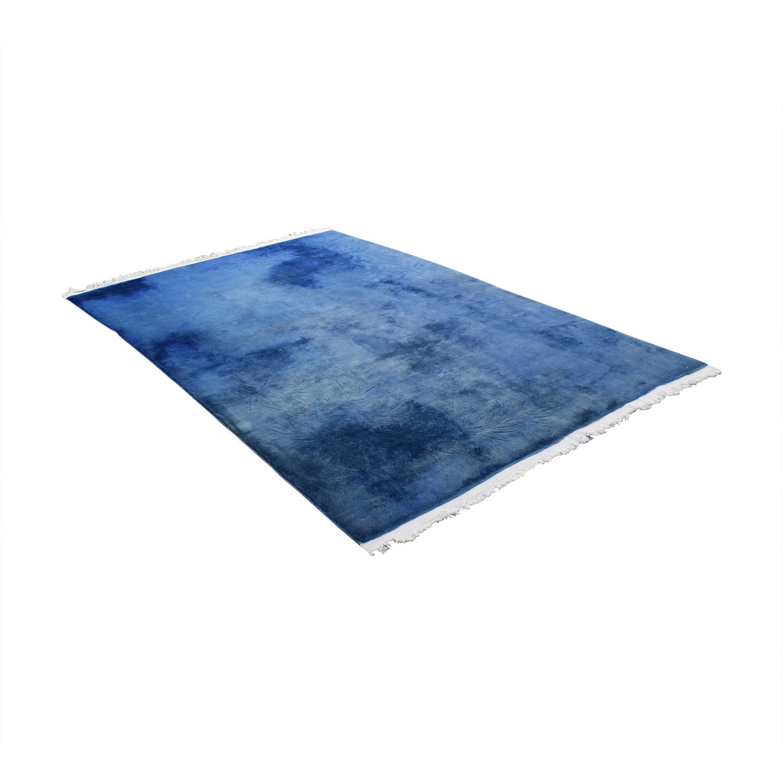 Chinese Blue Silk Carpet / Rugs