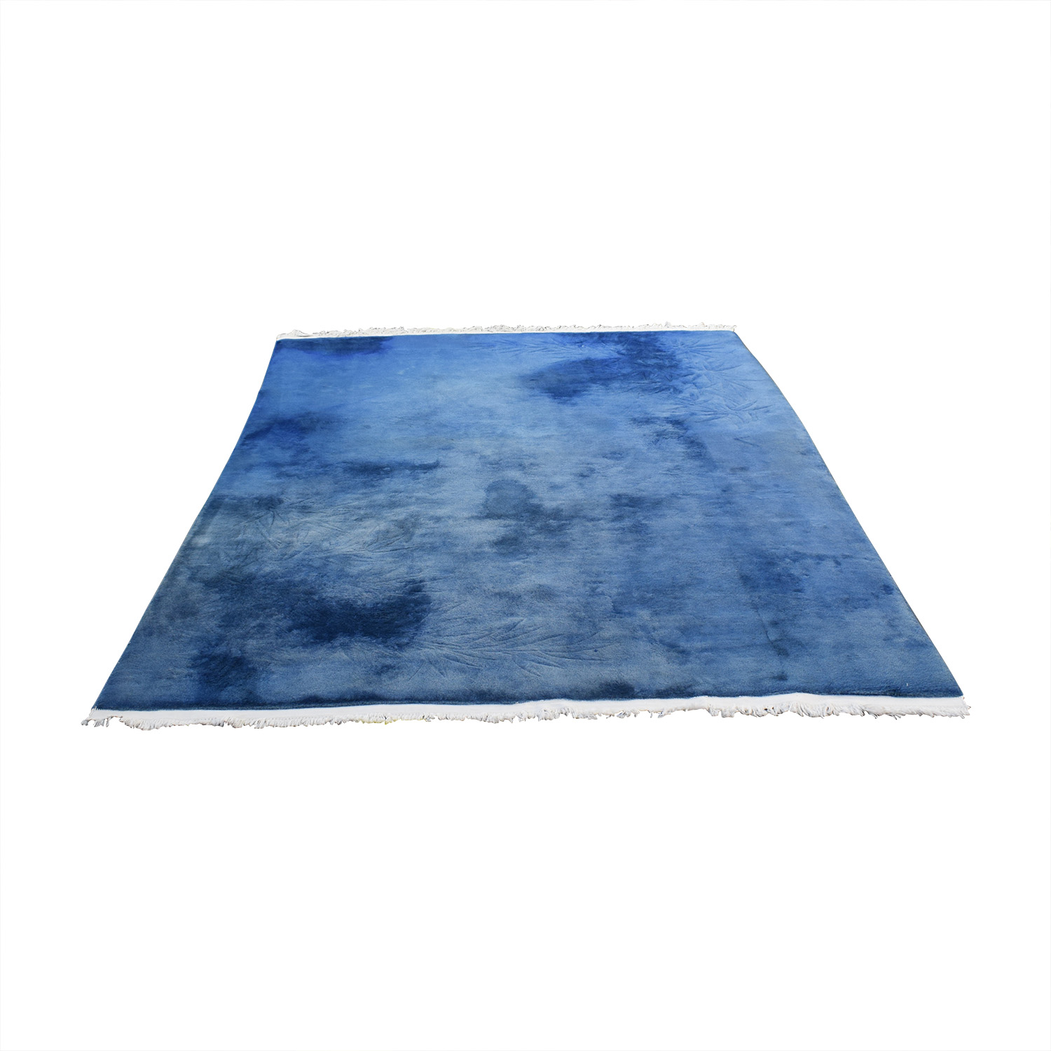 Chinese Blue Silk Carpet price
