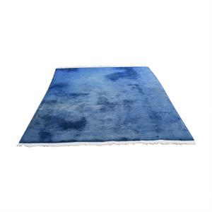 Chinese Blue Silk Carpet second hand