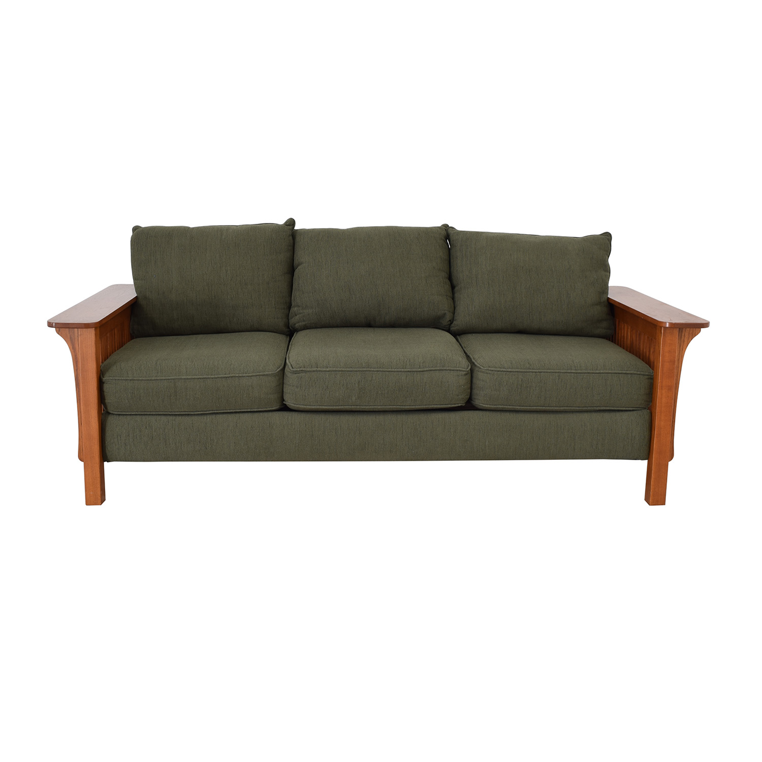 Mission Style Three Seat Couch dimensions