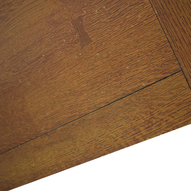 Mission Style Wood Single Drawer Coffee Table nj