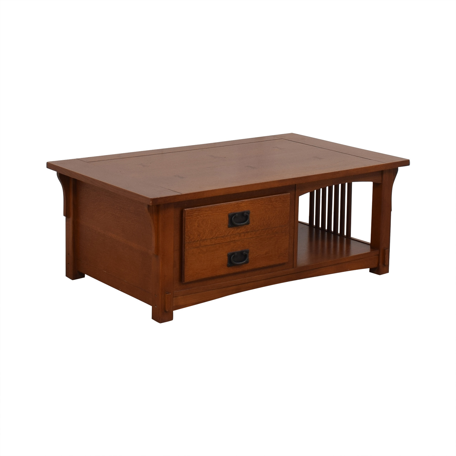 Mission Style Wood Single Drawer Coffee Table Tables