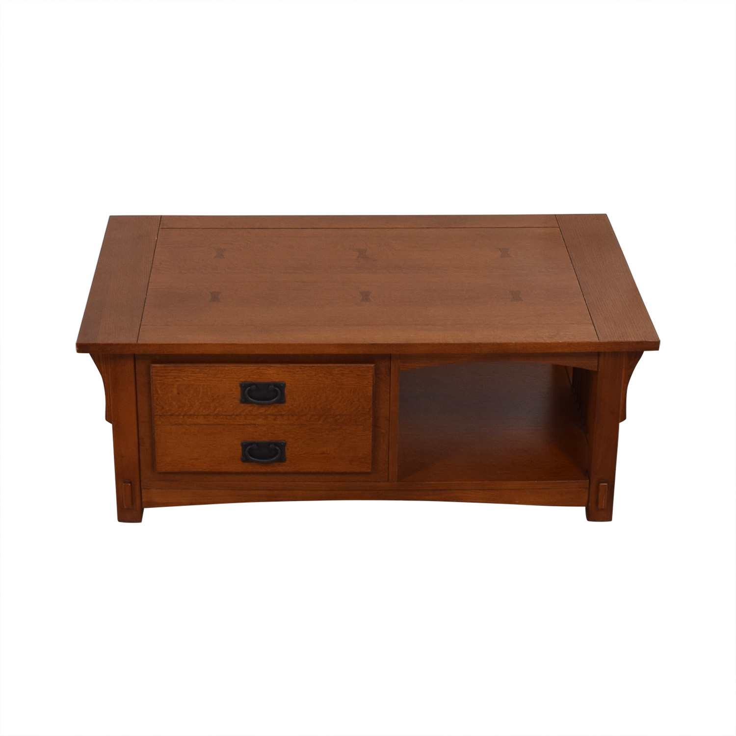 Mission Style Wood Single Drawer Coffee Table for sale