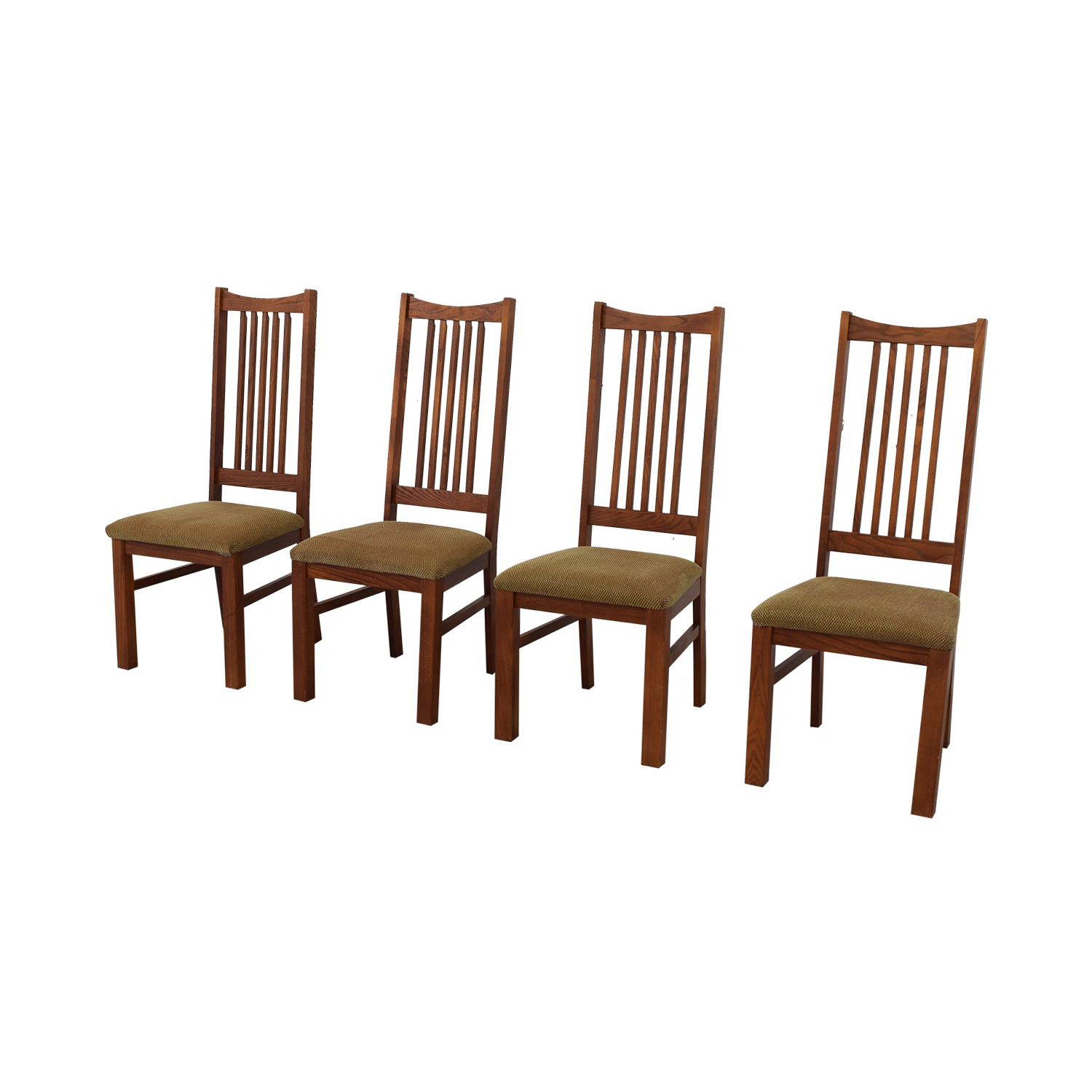 Wood Upholstered Dining Chairs