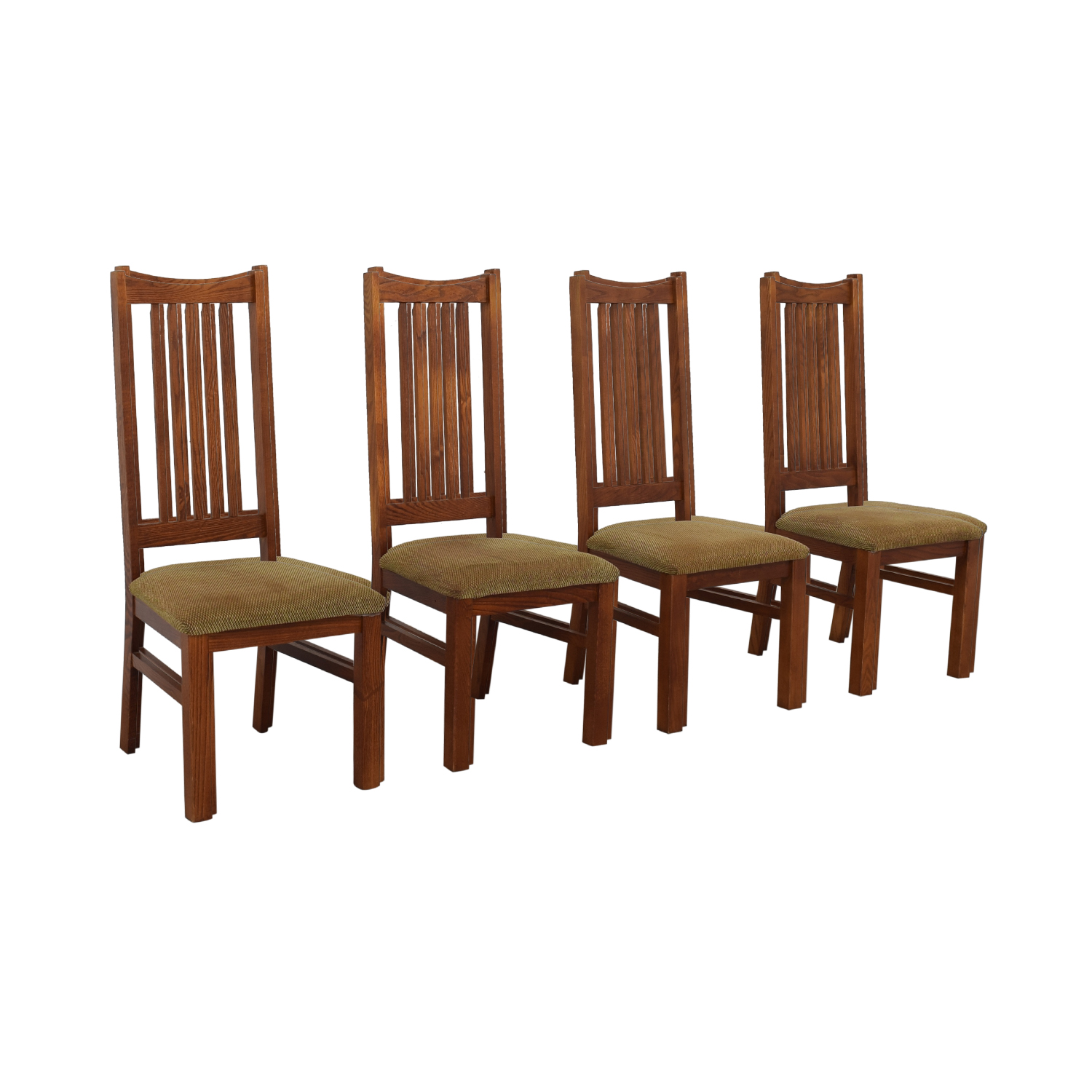 Wood Upholstered Dining Chairs gray