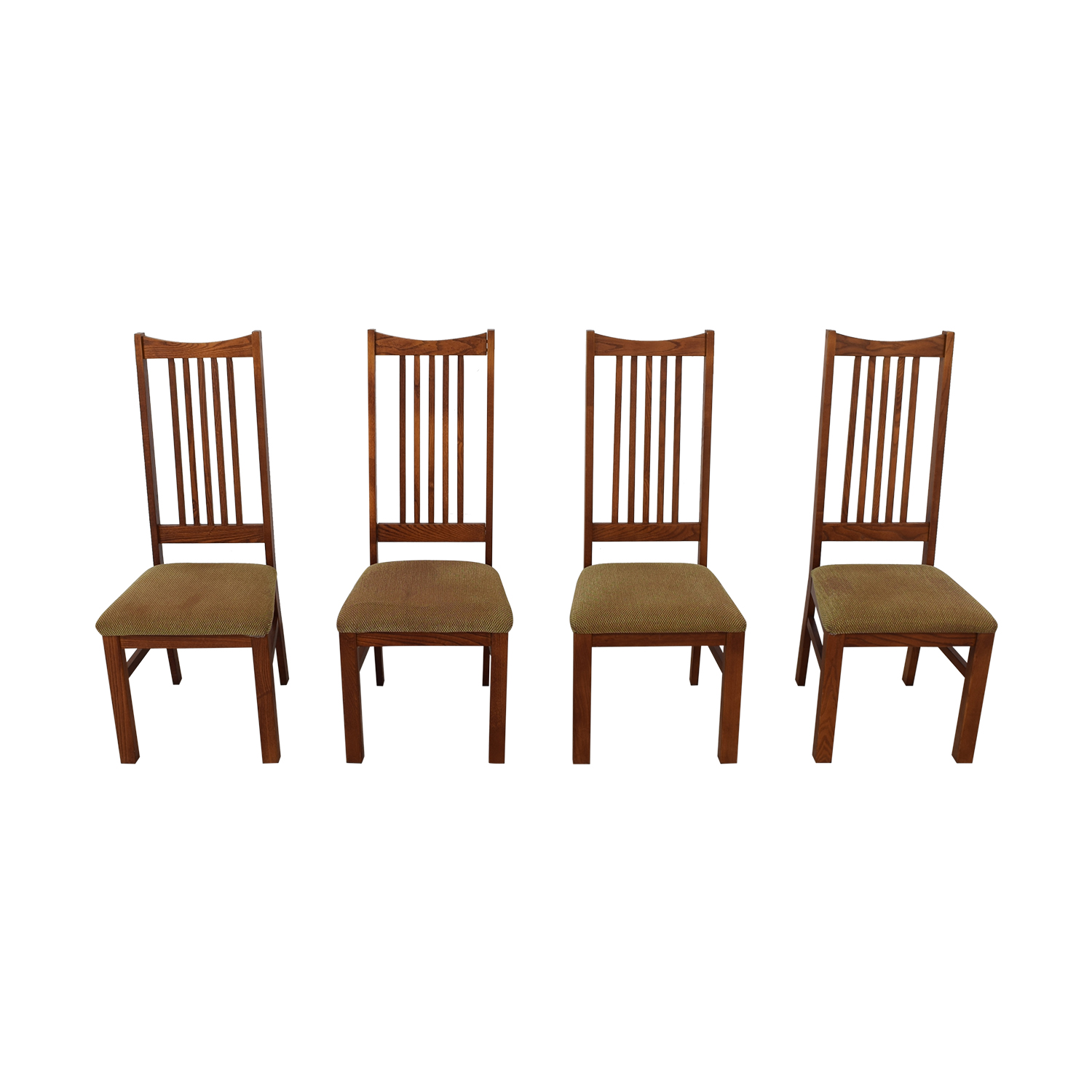 Wood Upholstered Dining Chairs second hand