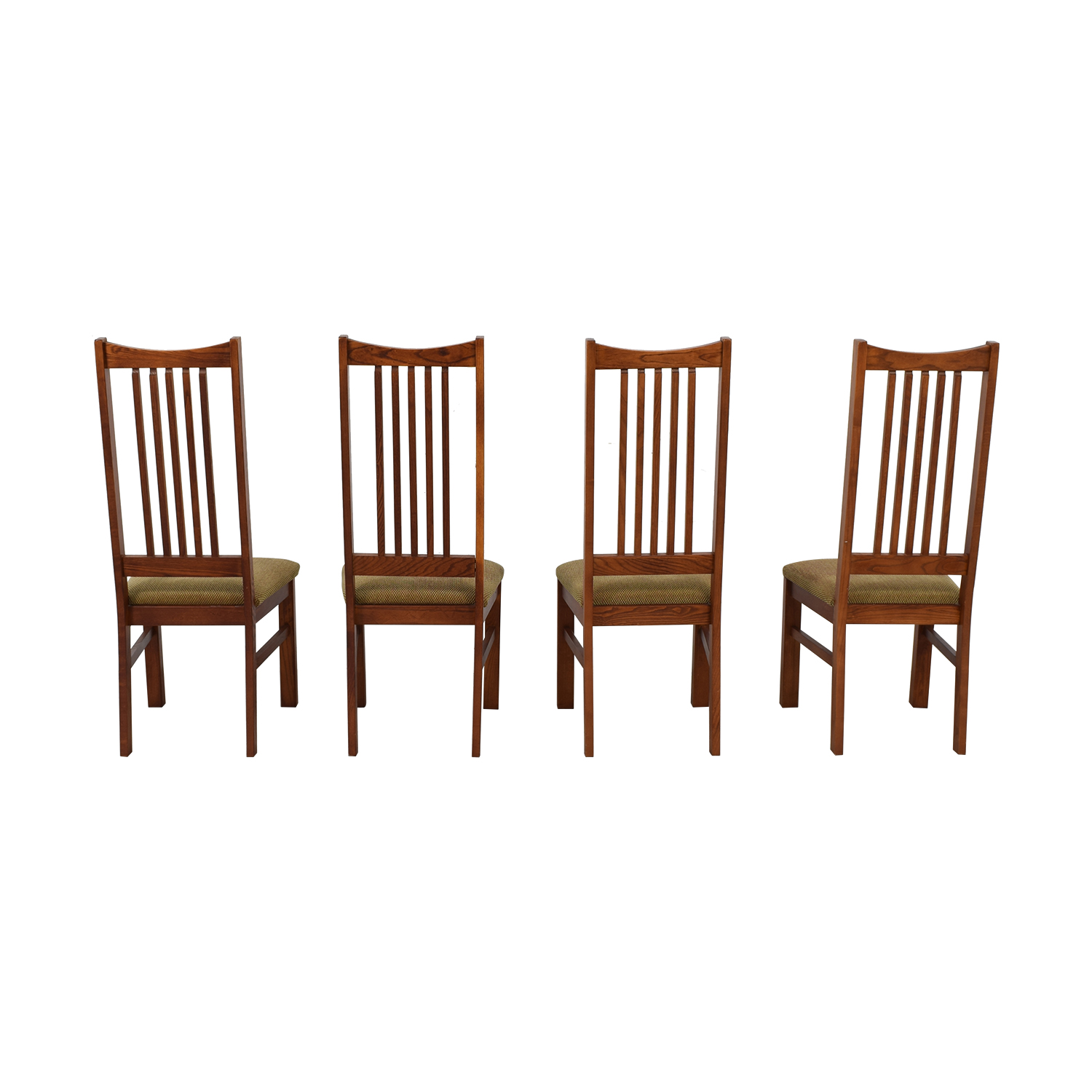 Wood Upholstered Dining Chairs / Storage