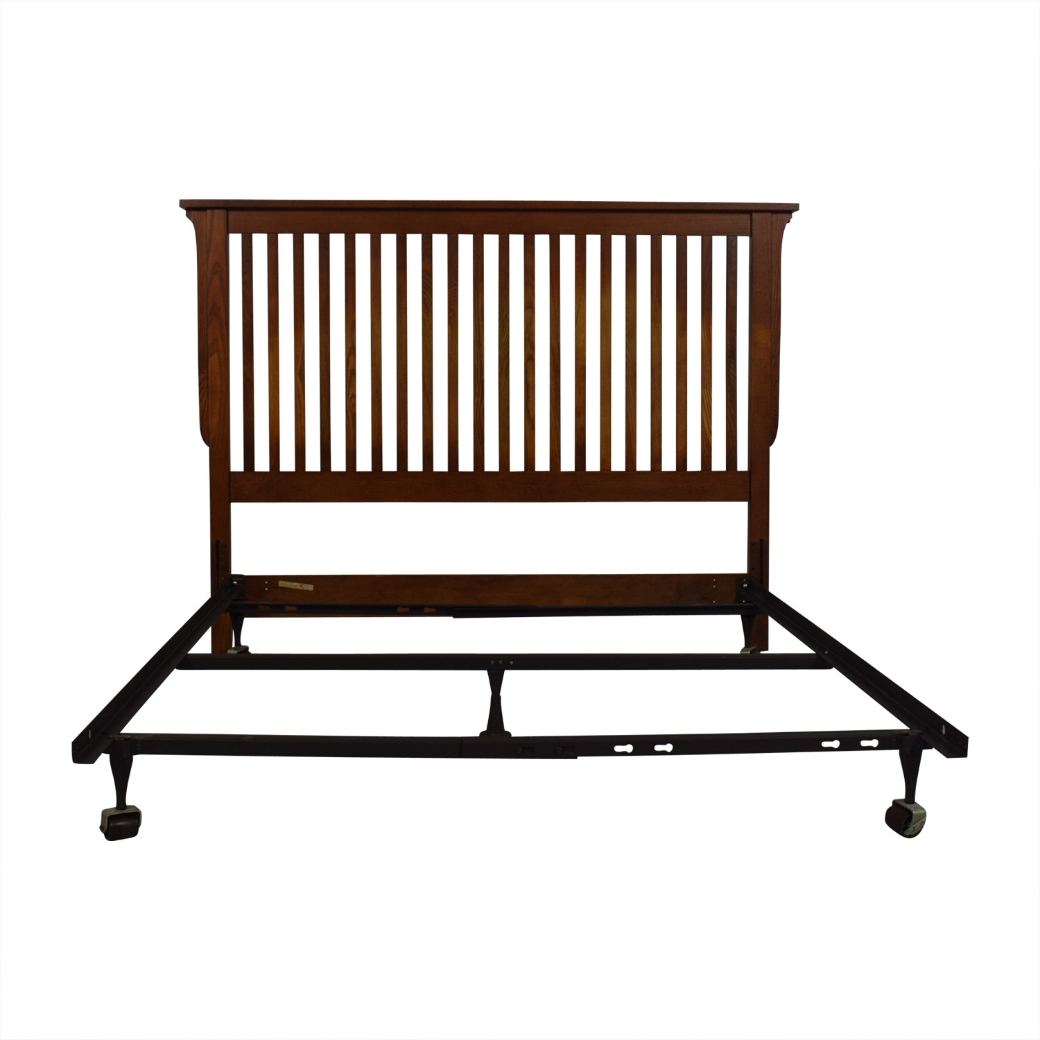 Bassett Furniture Bassett Furniture Mission Wood Headboard and Metal Base Full Bed Frame price