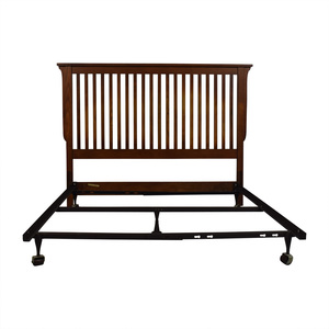 Bassett Furniture Bassett Furniture Mission Wood Headboard and Metal Base Full Bed Frame on sale
