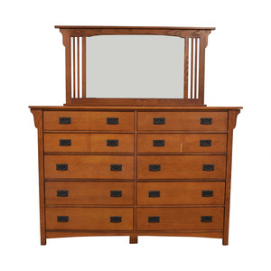 Bassett Furniture Bassett Furniture Kingston Prairie Ten-Drawer Dresser with Mirror dimensions