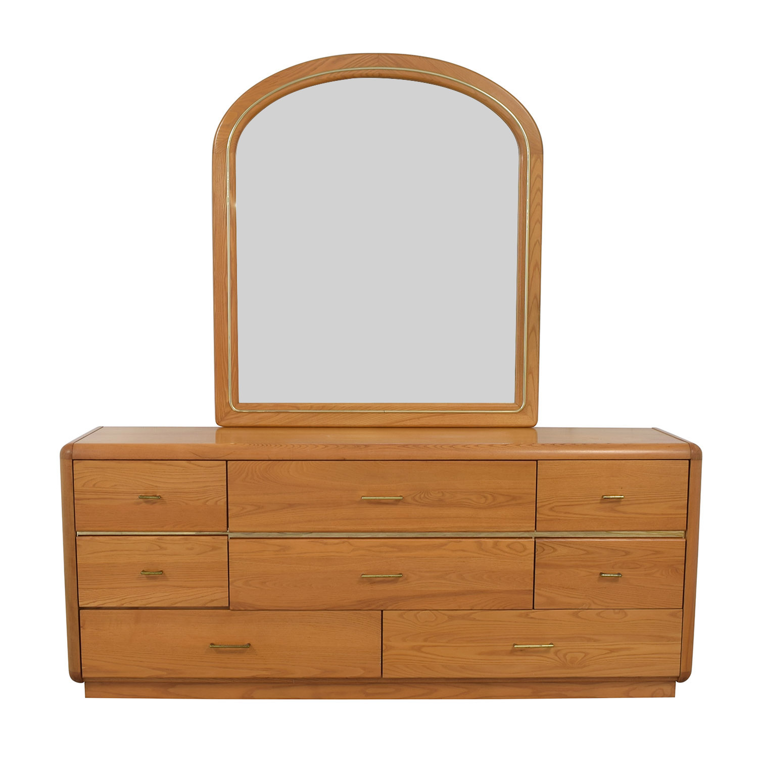 Eight Drawer Dresser with Mirror for sale