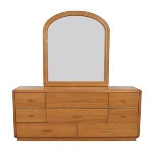 Eight Drawer Dresser with Mirror on sale