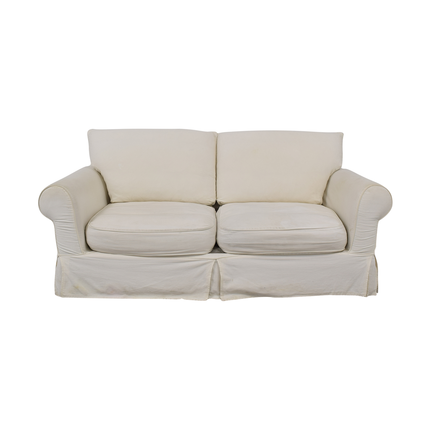 White Loveseat With Slipcover discount