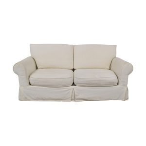 shop White Loveseat With Slipcover