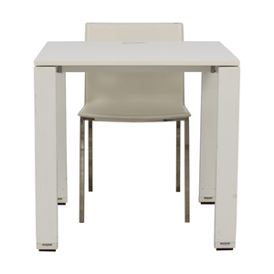 White Desk and Chair second hand