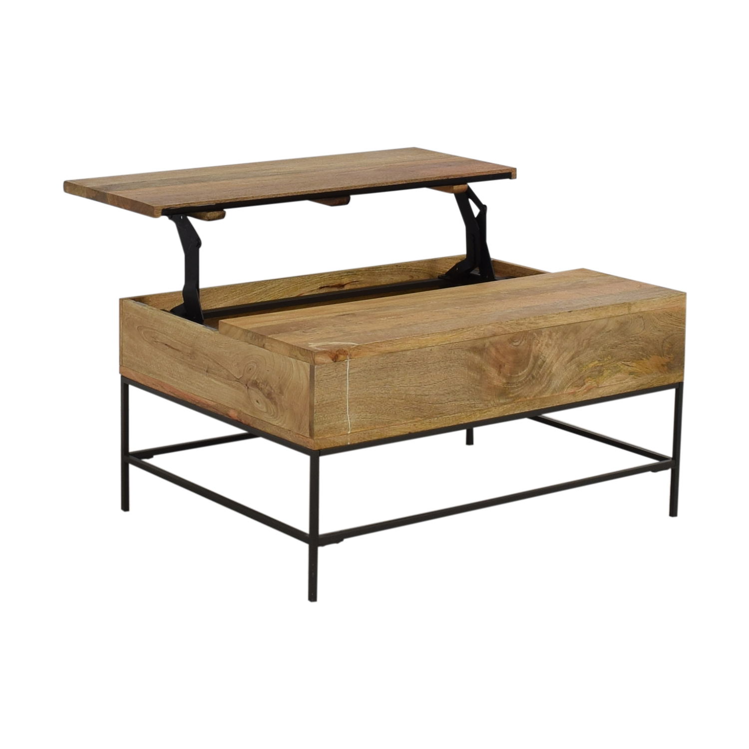 West Elm West Elm Industrial Storage Pop-Up Coffee Table for sale