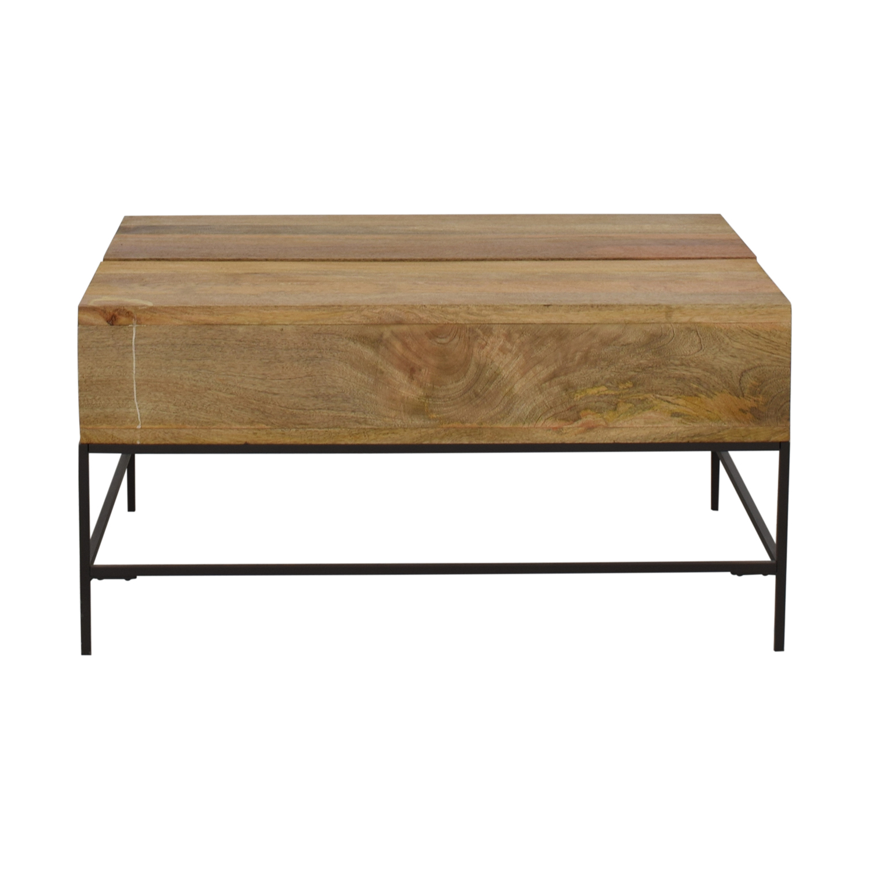 West Elm Industrial Storage Pop-Up Coffee Table / Coffee Tables