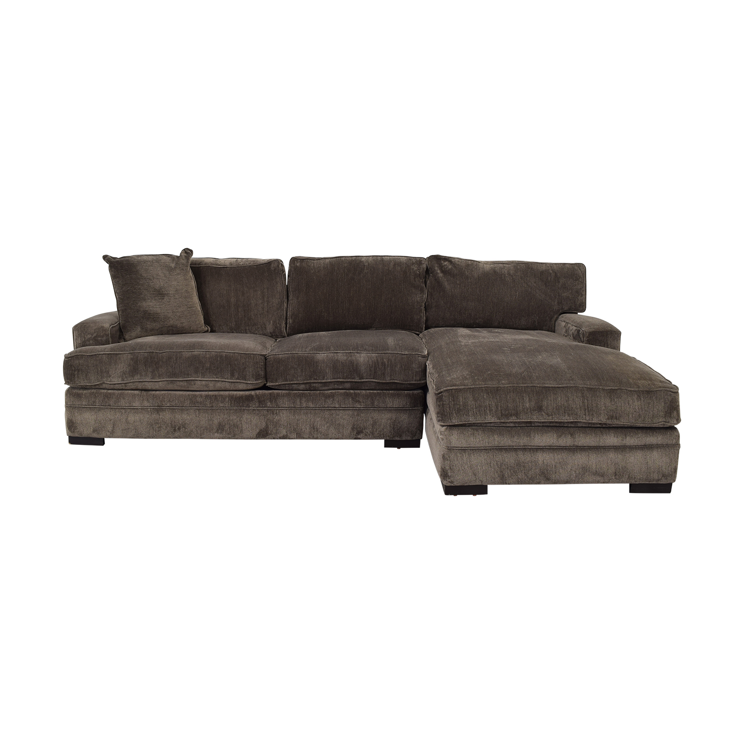 Macy's Macy's Teddy Brown Two Cushion Left Arm Sofa