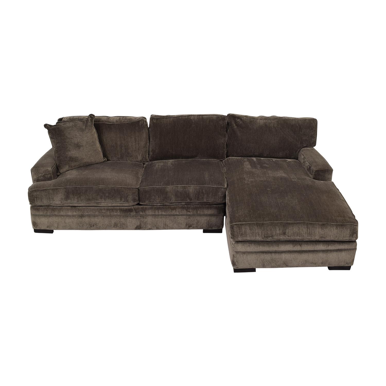 Macy's Macy's Teddy Brown Two Cushion Left Arm Sofa Brown