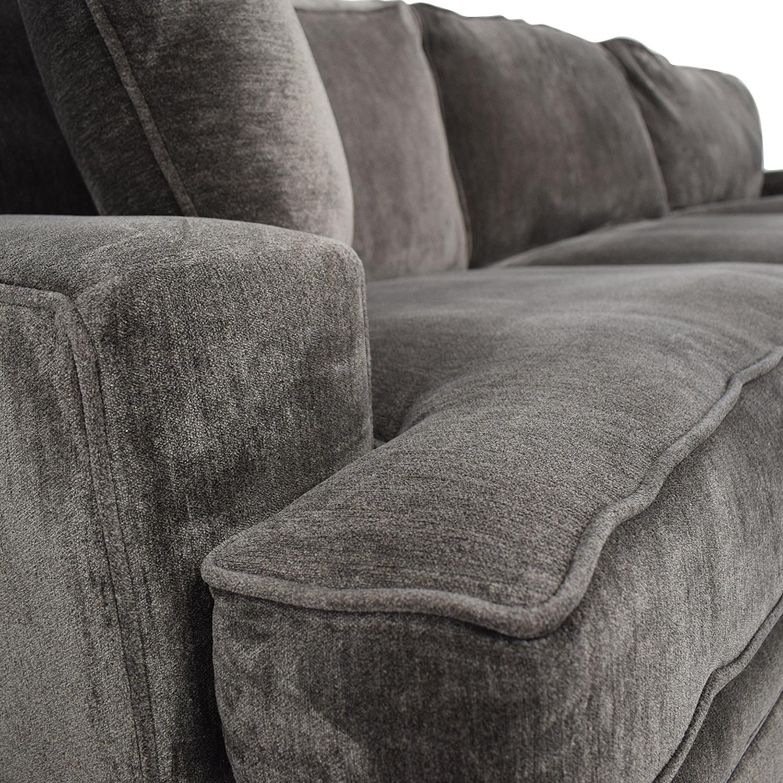 Macy's Macy's Teddy Brown Two Cushion Left Arm Sofa second hand