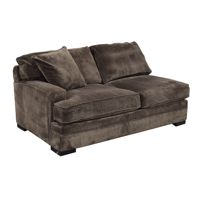 Macy's Macy's Teddy Brown Two Cushion Left Arm Sofa