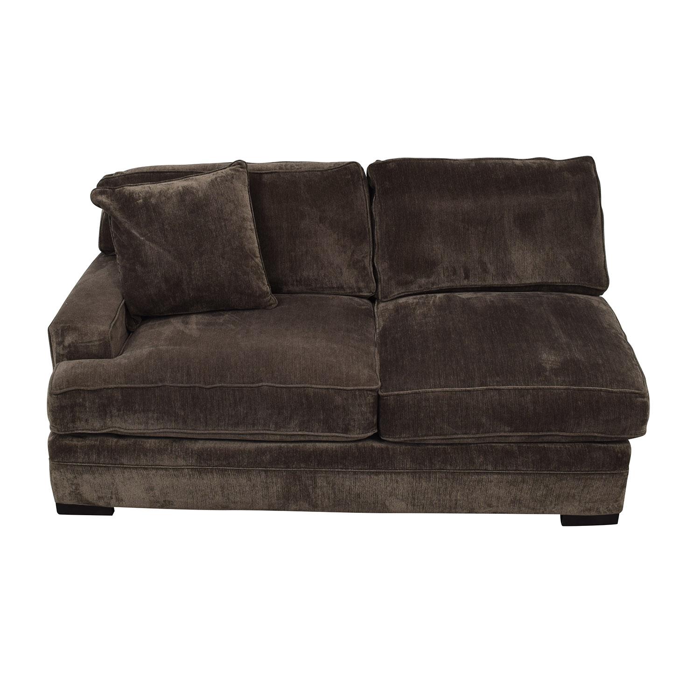Macy's Macy's Teddy Brown Two Cushion Left Arm Sofa nyc