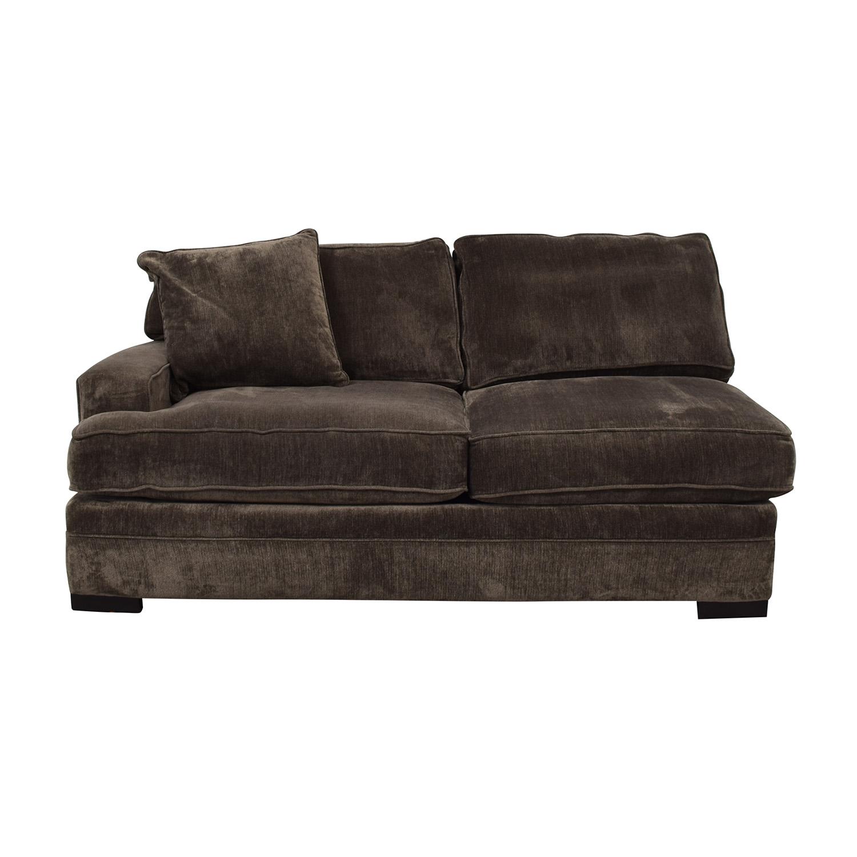 Macy's Macy's Teddy Brown Two Cushion Left Arm Sofa Chaises