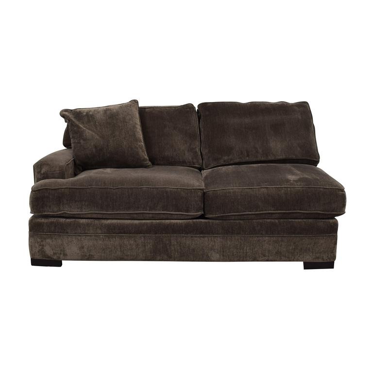 Macy's Teddy Brown Two Cushion Left Arm Sofa Macy's