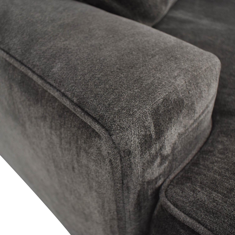 Macy's Macy's Teddy Brown Two Cushion Left Arm Sofa on sale