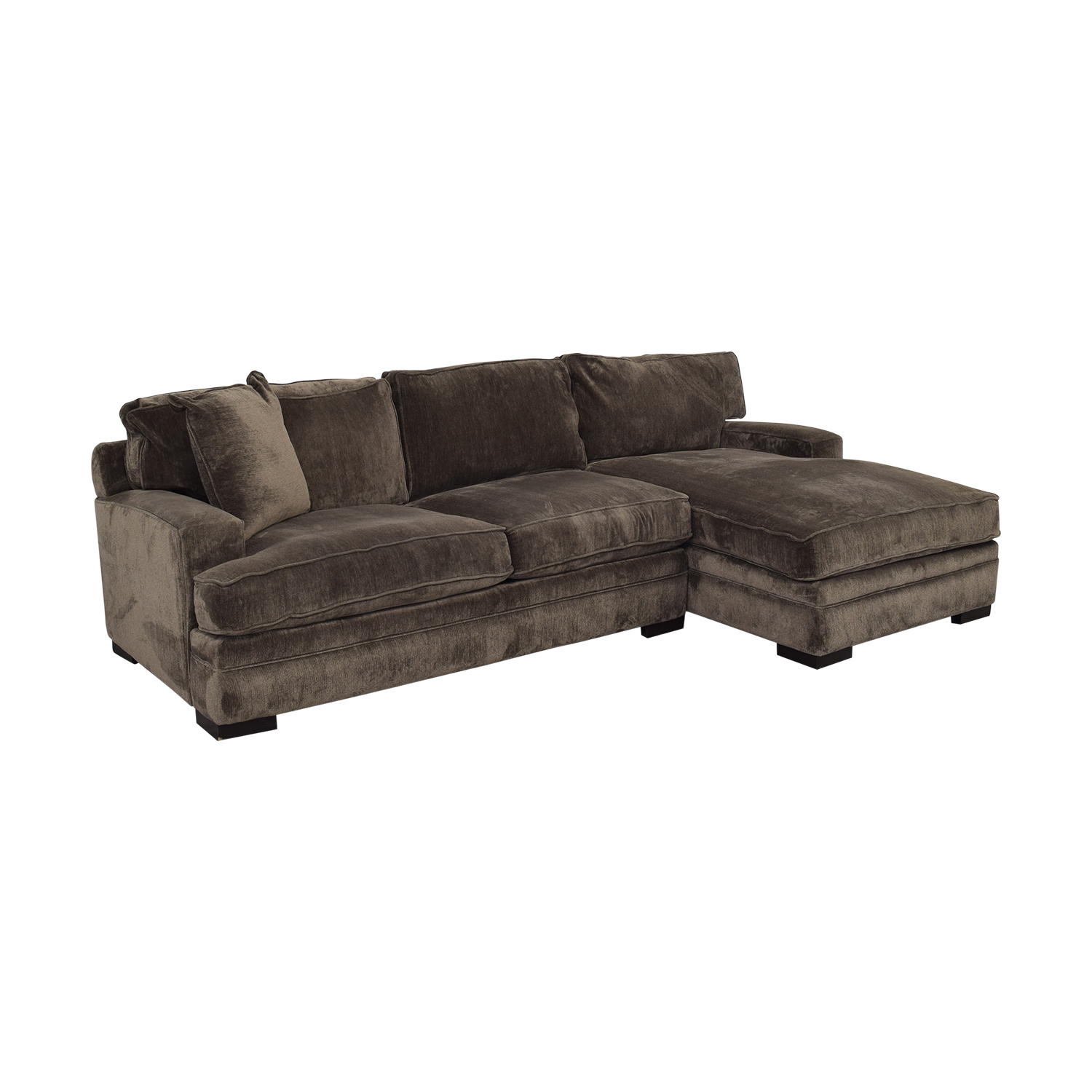 Macy's Teddy Brown Two Cushion Left Arm Sofa / Sectionals