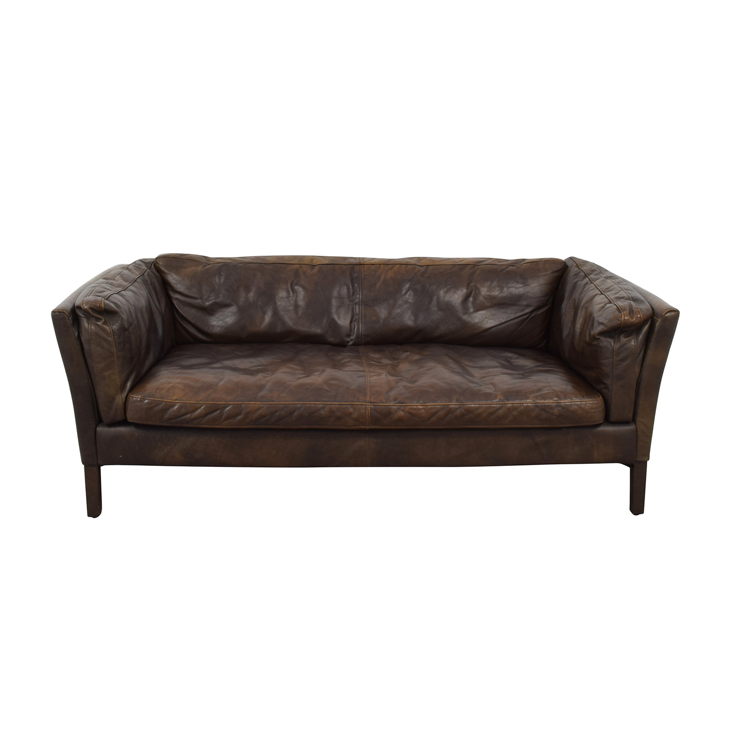 Restoration Hardware Restoration Hardware Sorensen Brown Single Cushion Sofa price