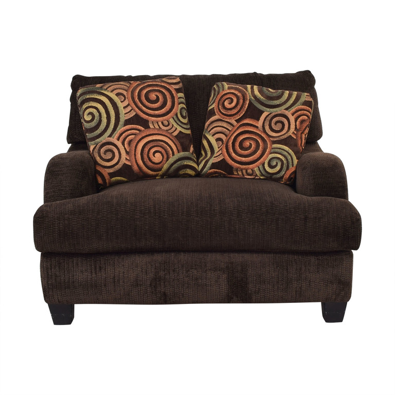 buy Bob's Discount Furniture Bob's Discount Furniture Large Brown Chair online