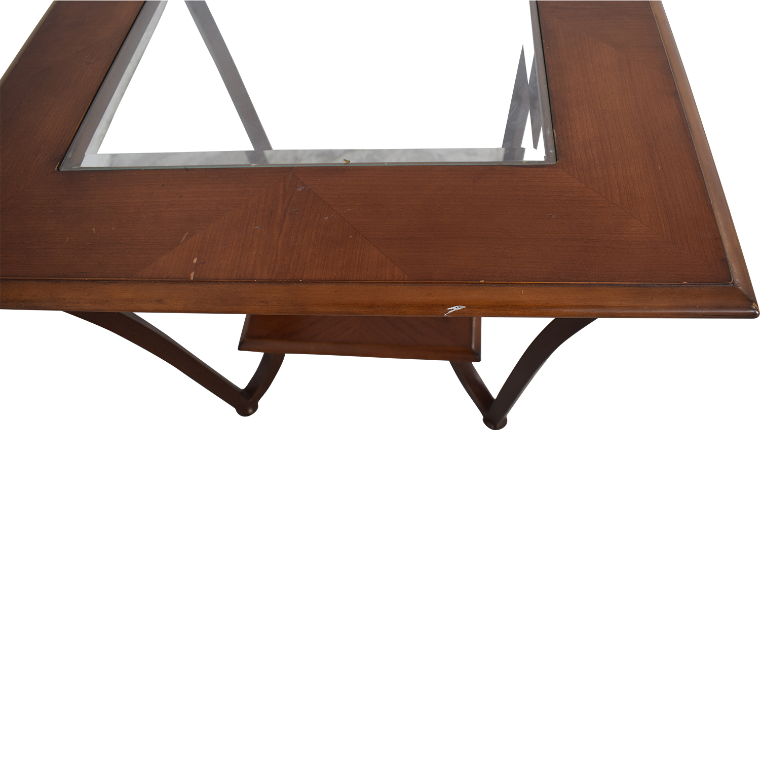 Glass Side Table used