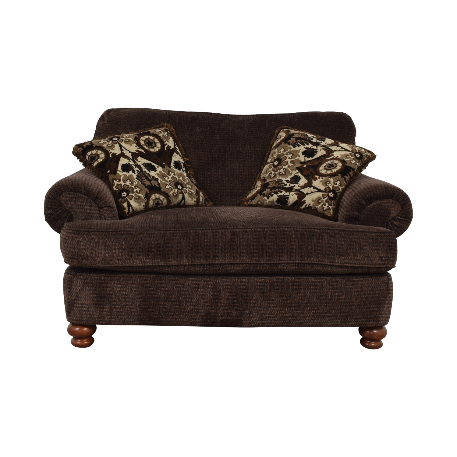 Prime 60 Off Jackson Furniture Jackson Furniture Brown Oversize Chaise And Ottoman Chairs Machost Co Dining Chair Design Ideas Machostcouk