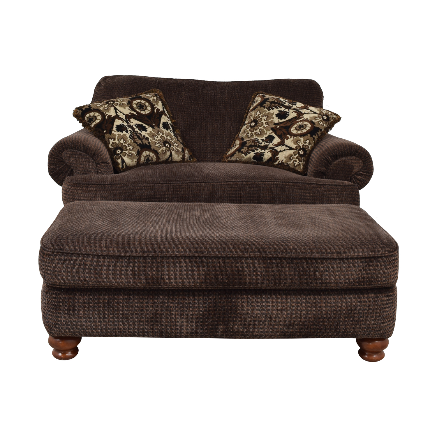 Buy Jackson Furniture Brown Oversize Chaise And Ottoman Jackson Furniture  Chairs