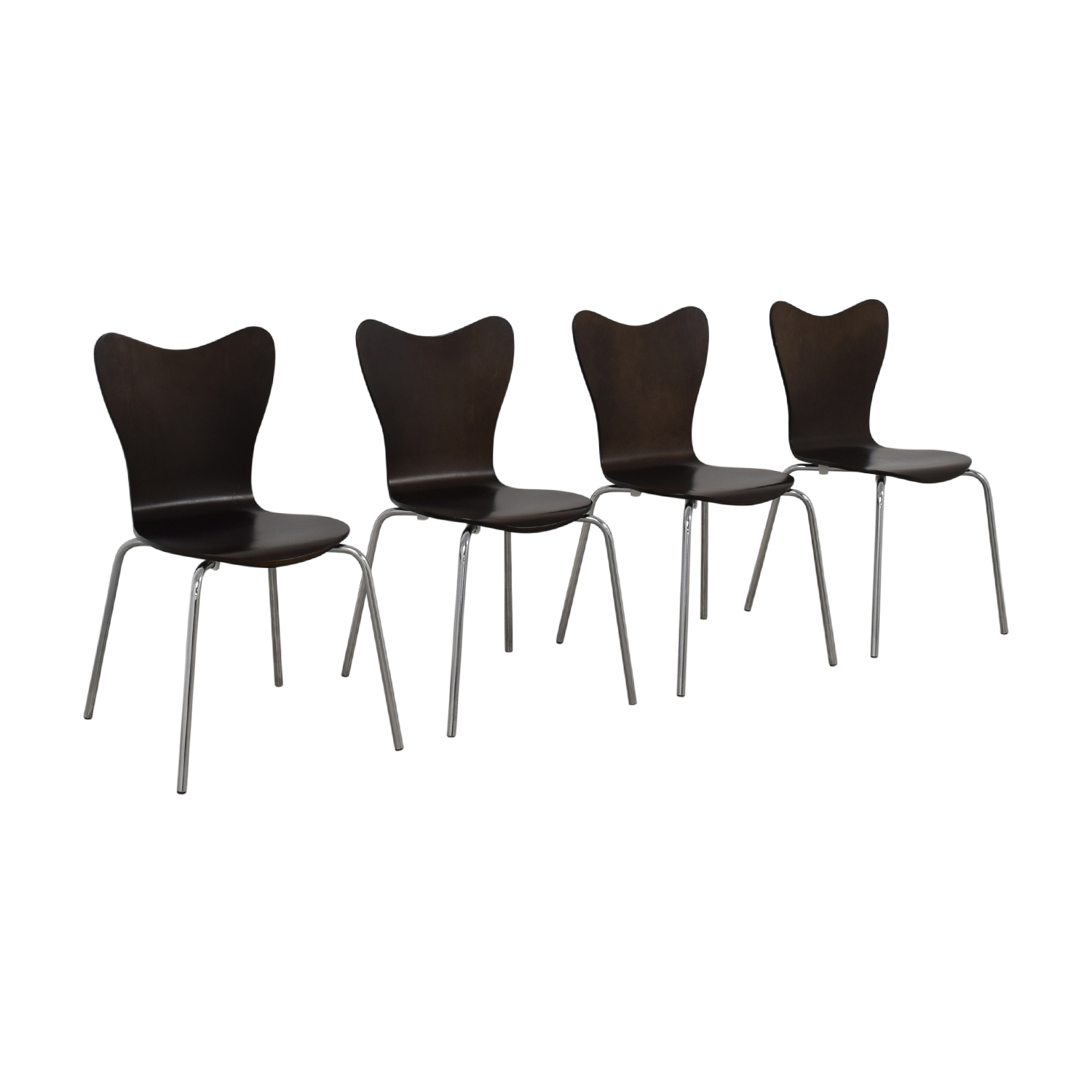 West Elm West Elm Scoop Back Dining Chairs second hand